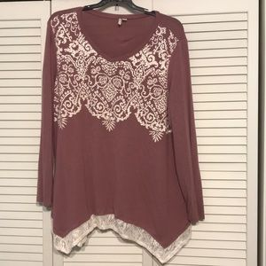 Cato Pink Long Sleeve Sweater Sz 22/24